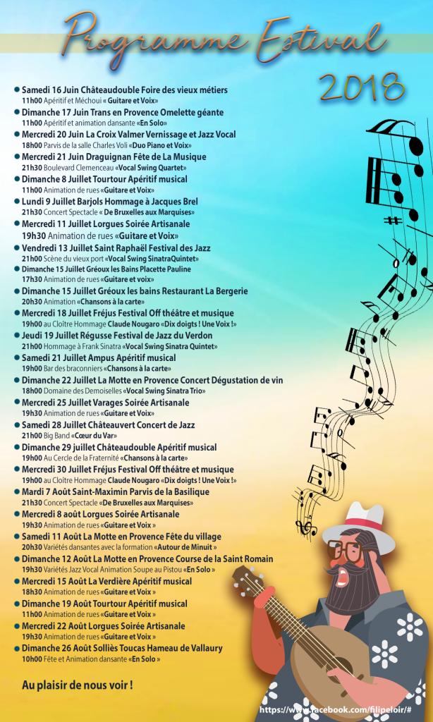 programme estival 2018